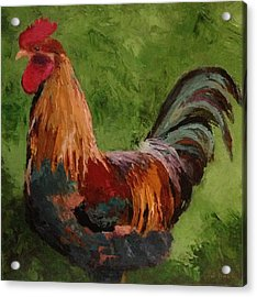 Cock-a-doodle Acrylic Print