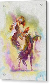 Cock Fight Acrylic Print by Catf