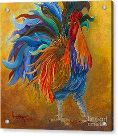 Cock-of-the-walk Acrylic Print by Lynn Rattray