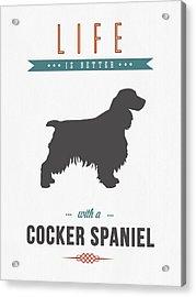 Cocker Spaniel 01 Acrylic Print by Aged Pixel