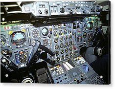 Cockpit Of Concorde Sst - Supersonic Acrylic Print