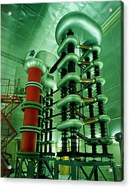 Cockroft-walton Generator At Bnl Acrylic Print by David Parker/science Photo Library