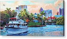 Cocktails On The New River Acrylic Print