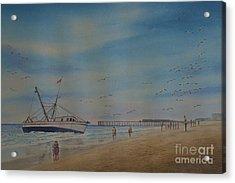 Cocoa Beach Meets Ellen Marie Acrylic Print by AnnaJo Vahle