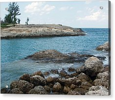 Cococay In The Bahamas Acrylic Print by Teresa Schomig