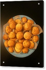 Coconut Biscuits Acrylic Print by Arual Jay