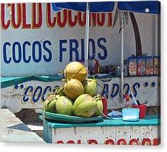 Acrylic Print featuring the photograph Coconuts - Mazatlan by Cheryl Del Toro
