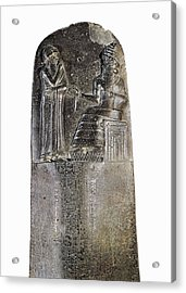 Code Of Hammurabi. Ca. 1750 Bc Acrylic Print by Everett