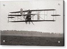 Codys Biplane In The Air In 1909 Acrylic Print