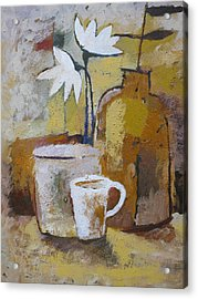 Coffee And Flowers Acrylic Print by Lutz Baar