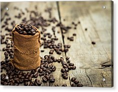 Coffee Beans Acrylic Print by Aged Pixel