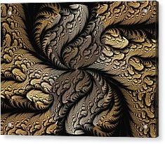 Acrylic Print featuring the digital art Coffee Beans by Lea Wiggins