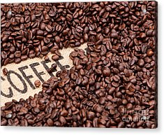 Coffee Beans Acrylic Print by Rick Piper Photography