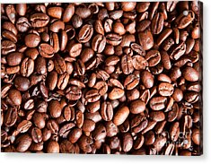 Coffee Beans  Acrylic Print by Sharon Dominick