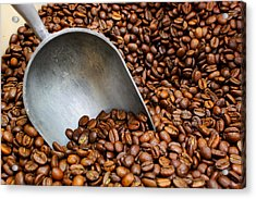 Acrylic Print featuring the photograph Coffee Beans With Scoop by Jason Politte
