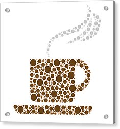 Coffee Cup Acrylic Print by Aged Pixel
