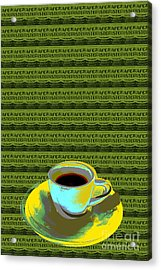 Coffee Cup Pop Art Acrylic Print