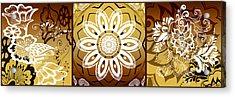 Coffee Flowers Calypso Triptych 2 Horizontal   Acrylic Print by Angelina Vick