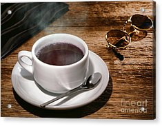 Coffee For The Voyageur Acrylic Print by Olivier Le Queinec