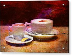 Coffee For Two Acrylic Print by Laura Fasulo