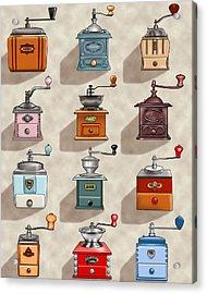 Coffee Grinder Wall Acrylic Print