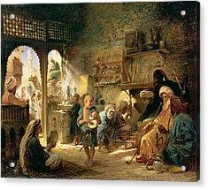 Coffee House In Cairo, 1870s Acrylic Print