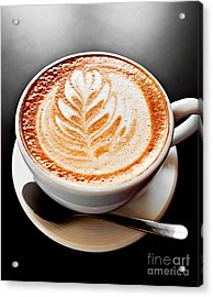 Coffee Latte With Foam Art Acrylic Print