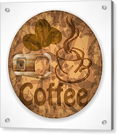 Coffee Lid Isolated On White Background Acrylic Print