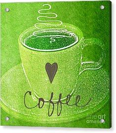 Coffee Acrylic Print by Linda Woods
