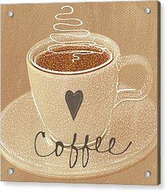 Coffee Love In Mocha Acrylic Print by Linda Woods