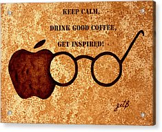 Coffee Lovers Quote 2 Acrylic Print