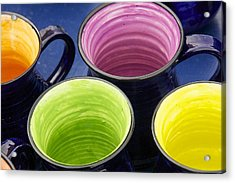 Acrylic Print featuring the photograph Coffee Mugs by Stuart Litoff