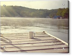 Coffee On The Dock Acrylic Print by Kay Pickens
