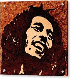 Coffee Painting Bob Marley Acrylic Print