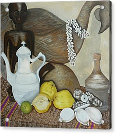 Acrylic Print featuring the painting Coffee Pot by Helen Syron