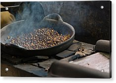 Acrylic Print featuring the photograph Coffee Roasting - Bali by Matthew Onheiber