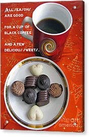 Acrylic Print featuring the photograph Coffee Season by Ausra Huntington nee Paulauskaite