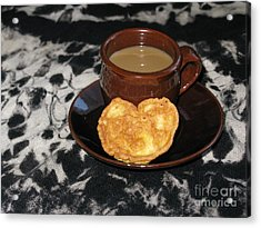Coffee Served With Love Acrylic Print by Ausra Huntington nee Paulauskaite