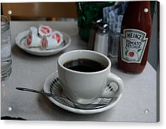 Coffee Shop Nyc Acrylic Print by Heidi Horowitz