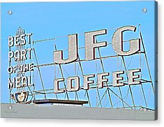 Coffee Sign Acrylic Print
