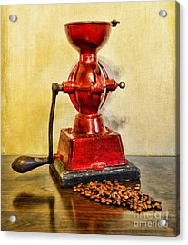 Coffee The Morning Grind Acrylic Print by Paul Ward