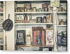 Coffee Tobacco And Spice - On The Shelves At A 19th Century General Store Acrylic Print by Gary Heller