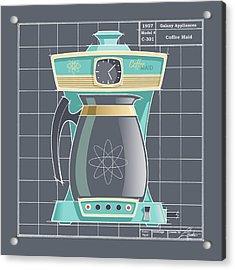 Coffeemaid -aqua Acrylic Print
