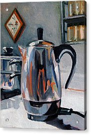 Acrylic Print featuring the painting Coffeepot by Pattie Wall