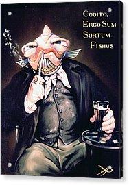 Cogito Ergo Sum Sortum Fishus Acrylic Print