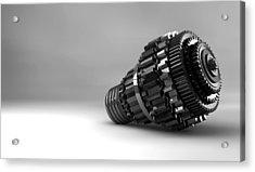 Cogwheel Lightbulb Shape Concept Acrylic Print