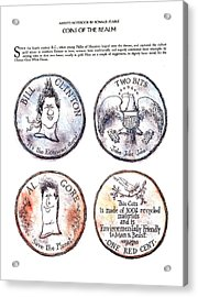 Coins Of The Realm Acrylic Print by Ronald Searle