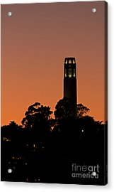 Acrylic Print featuring the photograph Coit Tower Sunset by Kate Brown