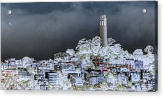 Coit Tower Surreal Acrylic Print by Diego Re