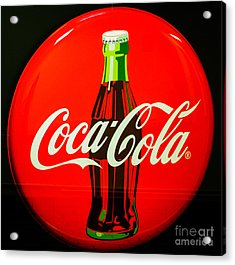 Coke Top Acrylic Print by Tikvah's Hope
